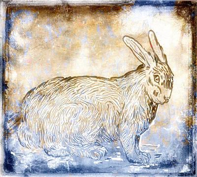 Bunny Van Gogh Print by Carol Leigh