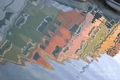 Burano House Reflections Print by Rebecca Margraf