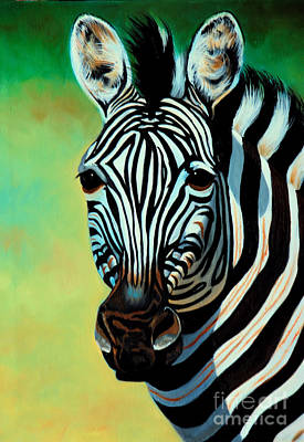 Zebra Painting - Burchell's Zebra by Cheryl Poland