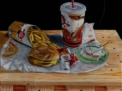 Meal Painting - Burger King Value Meal No. 1 by Thomas Weeks