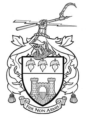 Genealogy Drawing - Burkart Arms by David Burkart