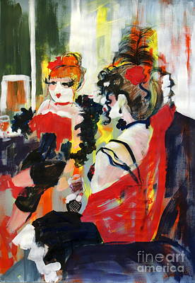 Show Girl Painting - Burlesque Night by Joanne Claxton