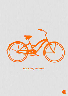 Single Digital Art - Burn Fat Not Fuel by Naxart Studio