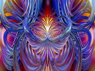 Burning Heart Of Desire Fx  Print by G Adam Orosco