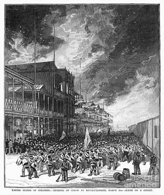 Burning Of Colon, 1885 Print by Granger