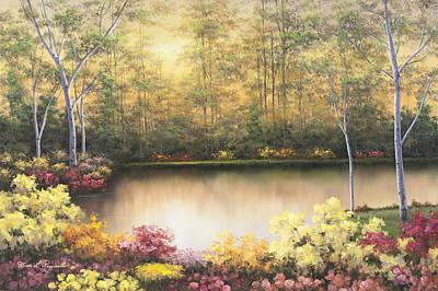 Bursting In Autumn Print by Diane Romanello