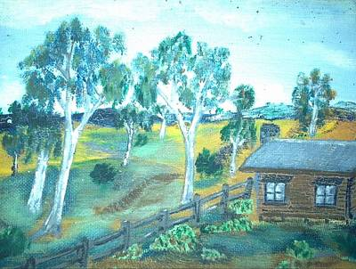 Bush Cabin Print by Julie Butterworth
