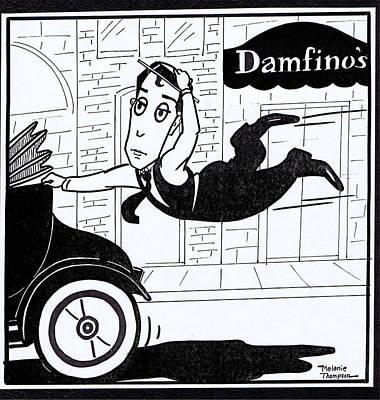 Slapstick Drawing - Buster Keaton Cops by Mel Thompson
