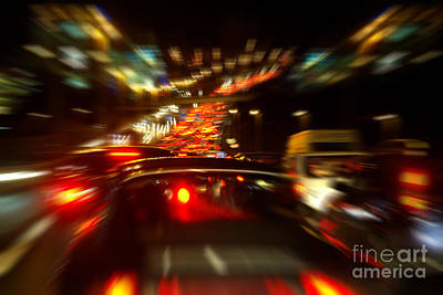 Trace Photograph - Busy Highway by Carlos Caetano