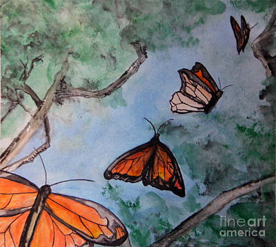 Jana Painting - Butterflies by Jana Barros