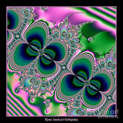 Abstract Digital Art - Butterflies On Parade Fractal 123 by Rose Santuci-Sofranko