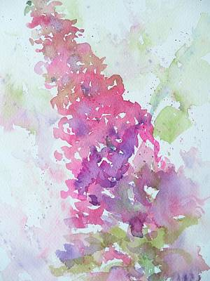 Painting - Butterfly Bush Plein Air by Sandy Collier