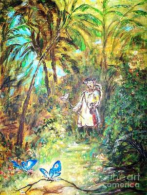 Painting - Butterfly Catcher  by Mary Sedici