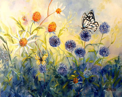 Butterfly Garden Print by Peggy Wilson