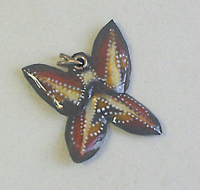 Hand Painted Pendant Jewelry - Butterfly2 by Asya Ostrovsky