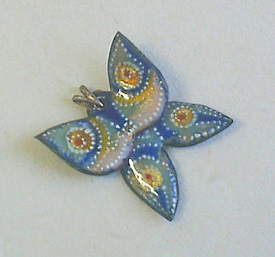 Hand Painted Pendant Jewelry - Butterfly3 by Asya Ostrovsky