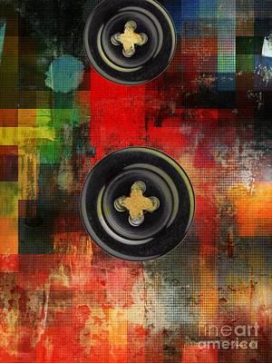 Button To The Top Print by Fania Simon
