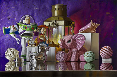 Buzz With Pink Elephant Print by Tony Chimento