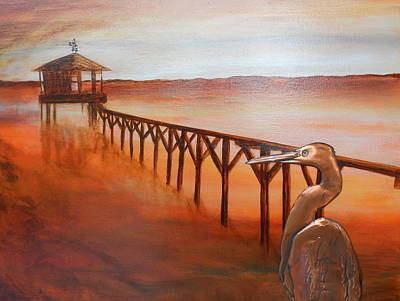 Weathervane Mixed Media - By The Dock Of The Bay by Judy McFee