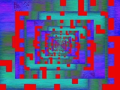 Information Age Digital Art - Byte Byway by Tim Allen