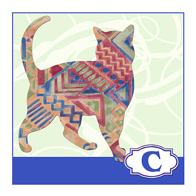 Education Painting - C Is For Cat by Elaine Plesser