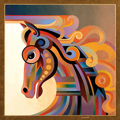 Abstract Realism Painting - Caballo by Bob Coonts