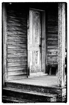 Cabin Door Print by John Rizzuto