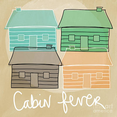 Cabin Painting - Cabin Fever by Linda Woods