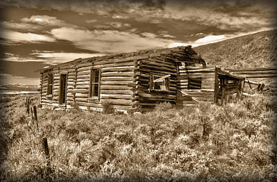 Log Cabin Photograph - Cabin Fever by Shane Bechler