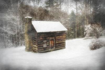 Cabin In The Fog Print by Christine Annas