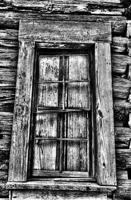 Cabin's Window Print by Greg Sharpe