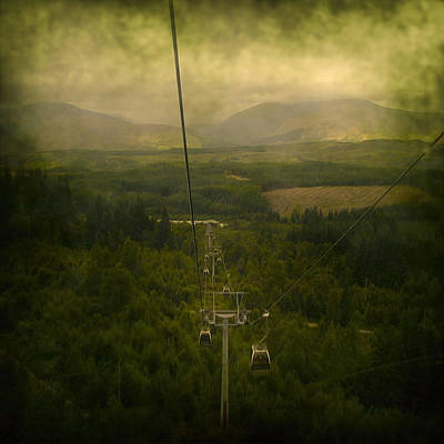 Foreboding Digital Art - Cable Cars by Svetlana Sewell