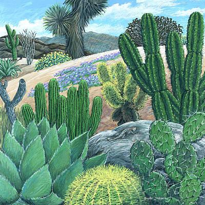 Cactus Garden Print by Snake Jagger
