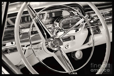 Cadillac Control Panel Print by Miso Jovicic