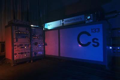 Technical Photograph - Caesium Clock by Ria Novosti