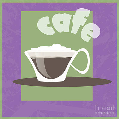 Coffeehouse Drawing - Cafe by HD Connelly