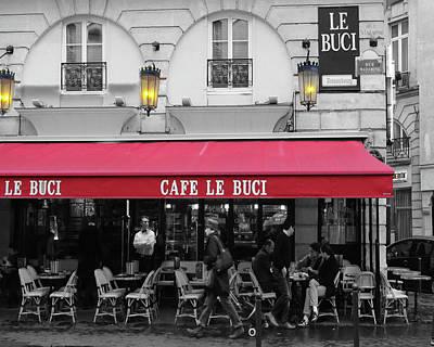 Cafe Le Buci Print by Tom Reynen