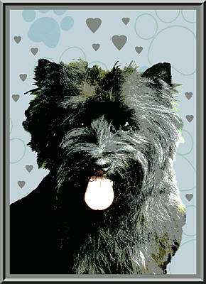 Cairn Terrier Print by One Rude Dawg Orcutt