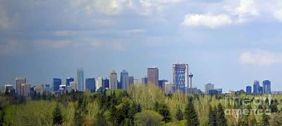 Calgary Skyline Spring 2011 Print by Al Bourassa