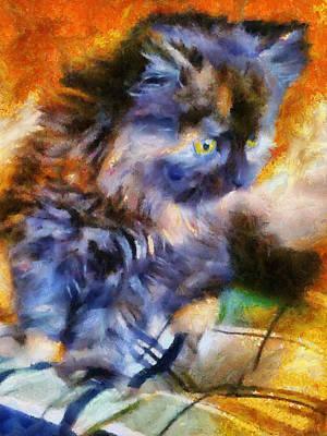Kitten Painting - Calico Kitten by Jai Johnson