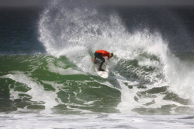 California Ocean Photograph - California Surfing 4 by Larry Marshall