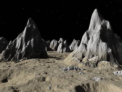 Callisto Spires,artwork Print by Walter Myers