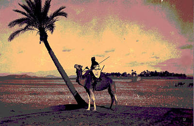 Cairo Mixed Media - Camel Rider by Charles Shoup