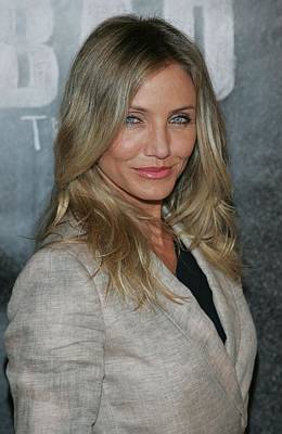 Dark Roots Photograph - Cameron Diaz At A Public Appearance by Everett
