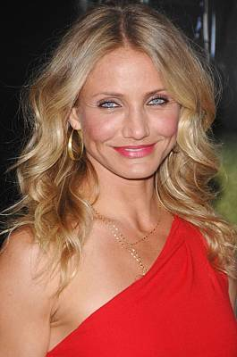 Gold Earrings Photograph - Cameron Diaz At Arrivals For The Green by Everett