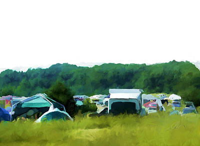 Blissfest Print featuring the digital art Camp Bliss by Daniel Tollas