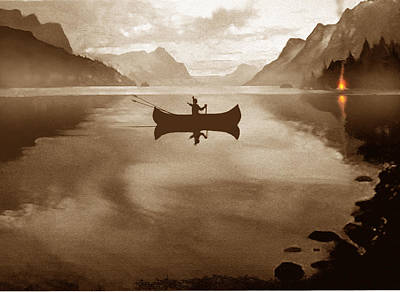 Canoe Digital Art - Camp Waters by Robert Foster