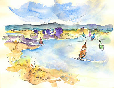 Watersports Drawing - Campo Maior In Portugal 04 by Miki De Goodaboom