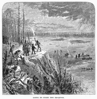 Huron Indian Photograph - Canada: Native American War by Granger