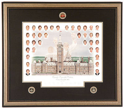 Art Of Hockey Mixed Media - Canada Team Of The Century Limited Edition by Daniel Parry